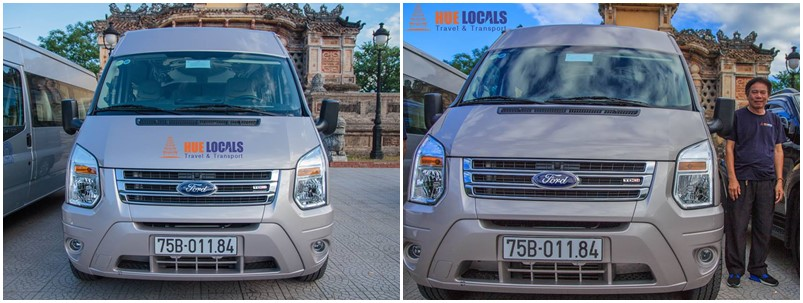 16 seat car - Ford Transit - Danang Private Taxi
