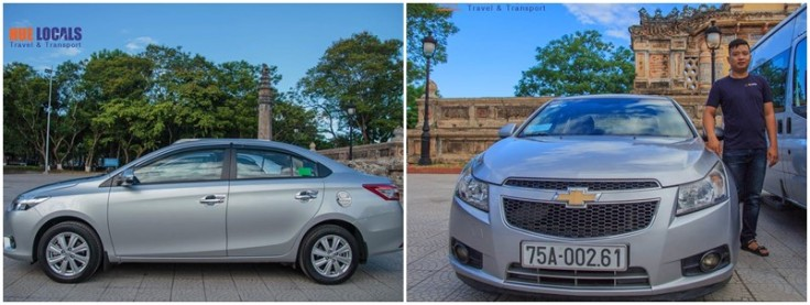 4 seat car - Chevrolet - Danang Private Taxi